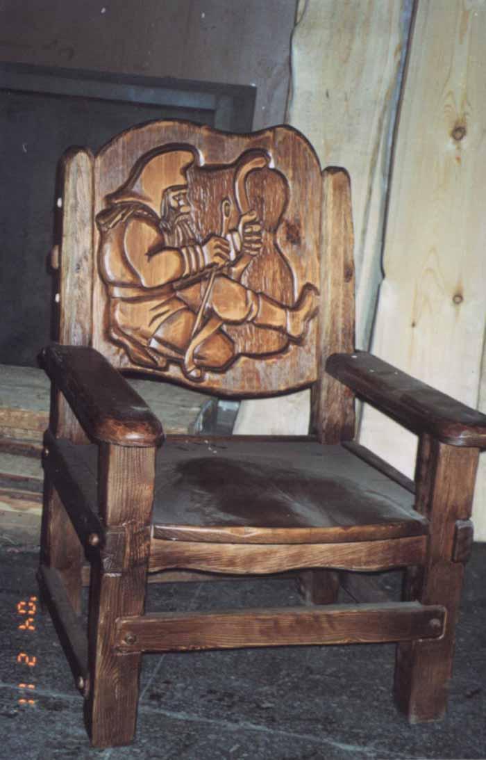 Резные кресла из дерева своими руками